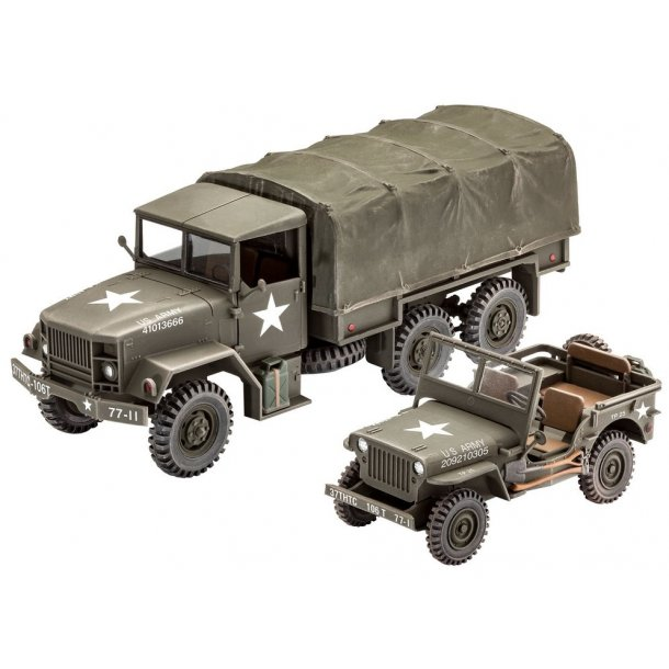 US M34 Tactical Truck with Willys Jeep